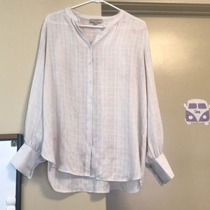 White button down LOFT blouse